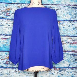 🦋NWT Eileen Fisher Royal Blue Blouse